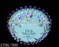 Good quality crystal MP3 remote luxury led crystal ceiling lamp