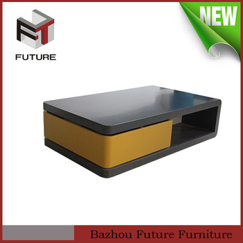 2015 High Quality Wooden Coffee Table Design In Black, Modern Tea Table  Design, Side