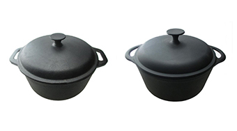 "Camp Chef Pre-Seasoned Deluxe 10"" Cast Iron Dutch Oven with Lid"
