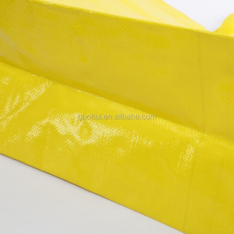 PP gewebte Tasche, gelbe PP gewebte Einkaufstasche