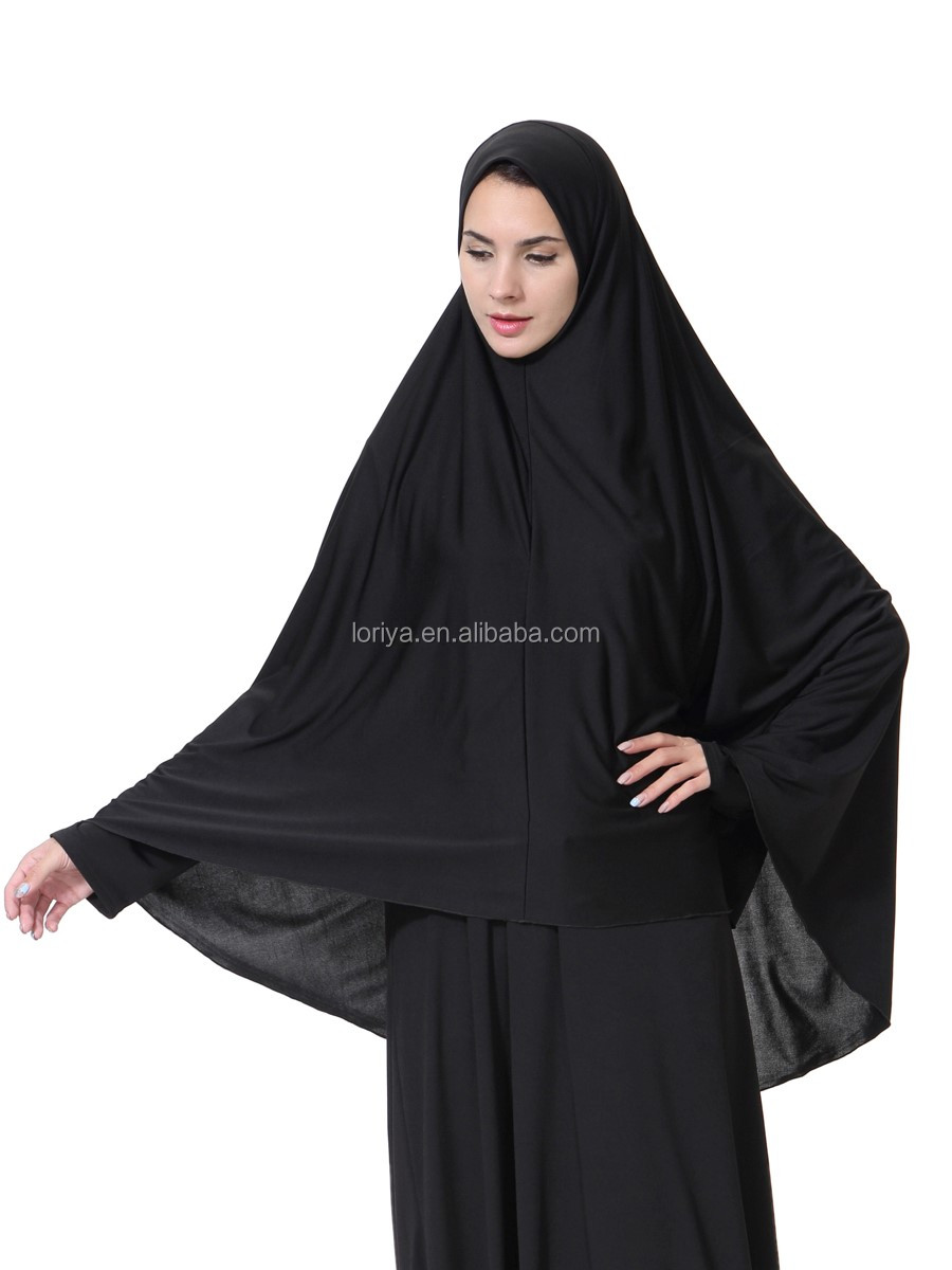 Muslim long hijab milk silk long cover head cap hijab