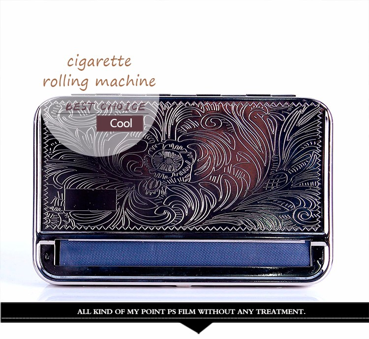 110mm Metal Automatic Cigarette Tobacco Smoking Rolling Machine Roller Box