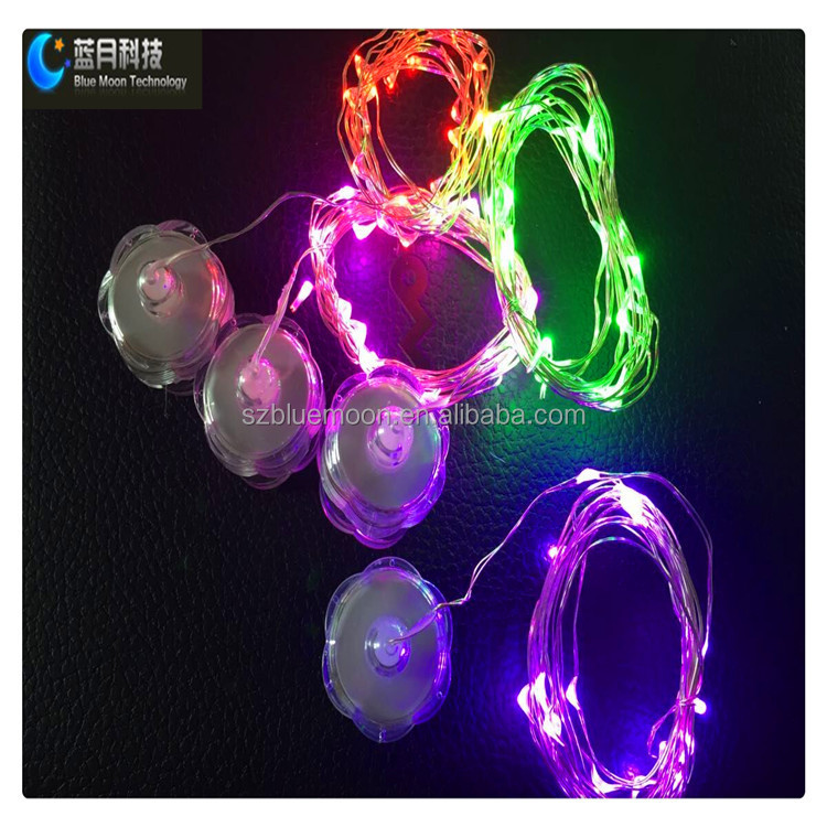 2M20L Led submersible decoration string light with flower battery case