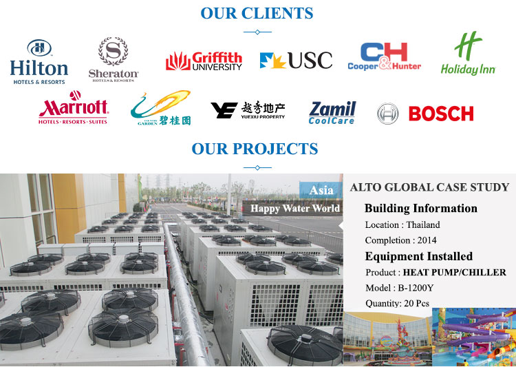 Altaqua 100kw/h heat pump swimming pool heaters