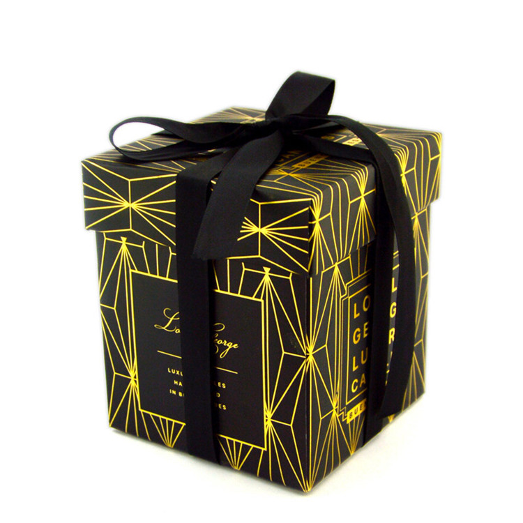 Luxury Black Candle Gift Box Packaging