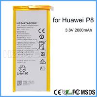 Shenzhen Factory High Quality HB3447A9EBW Mobile Phone Li-Polymer Batteries 3.8V 2600mah Battery for Huawei P8
