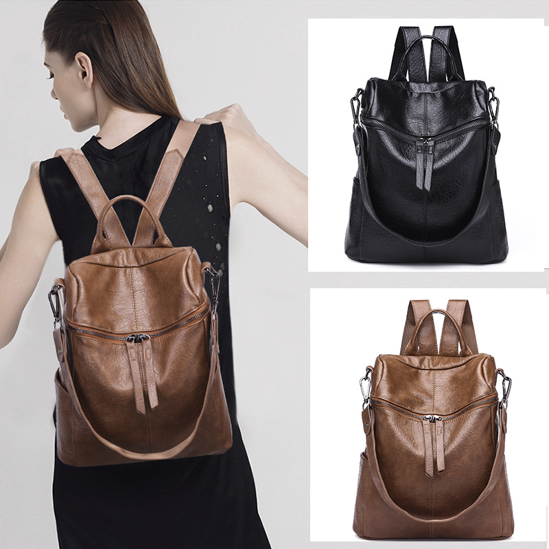 Obliging Brand Fashion Women Backpack Ladies Travel Bag Pu Leather Backpack Women Casual Bags Backpack For Teenager Girls Backpacks Women's Bags