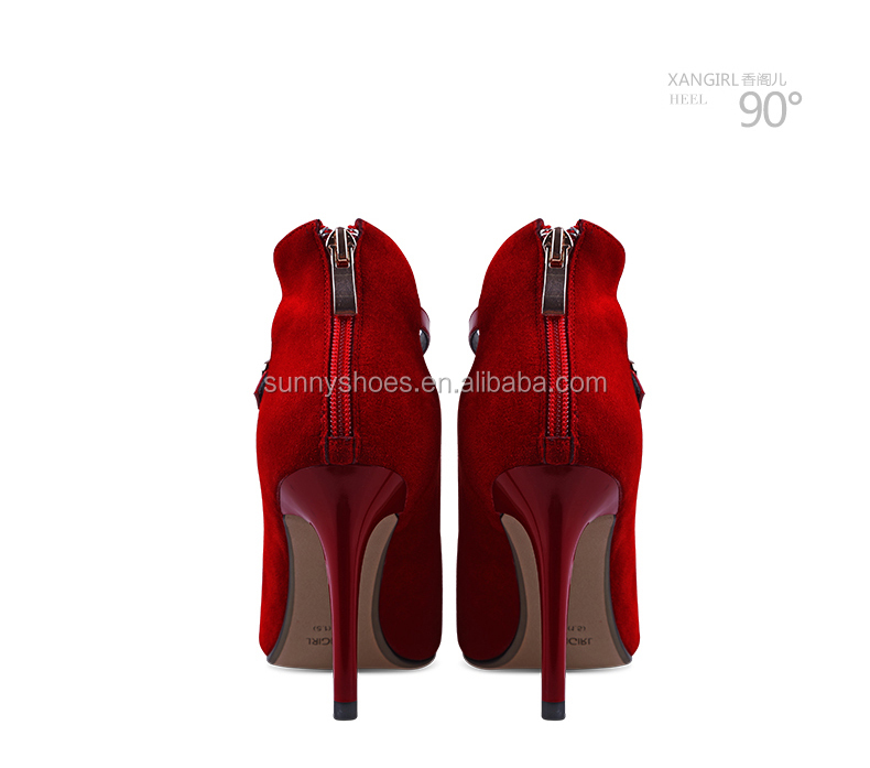 strap party Ladies red women ankel wedding pointed 2017 pumps toe shoes qwx0TSE