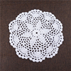 21CM Handmade knitted cotton crochet lace coaster cup mat, UKCM02