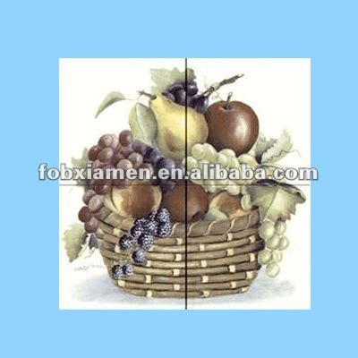 ceramic fruit backsplash tiles