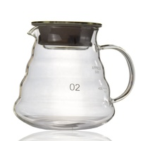 Wholesale 360ml/580ml/800ml heat-resistant glass server V60 Carafe Drip coffee & tea pot kitchen machine