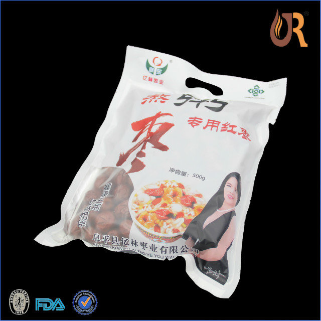 silicone food bag/Best quality paper Zip Lock Bag with Tear Notch for food