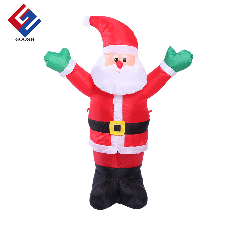Large outdoor santa sleigh 20ft christmas inflatable santa giant inflatable santa claus
