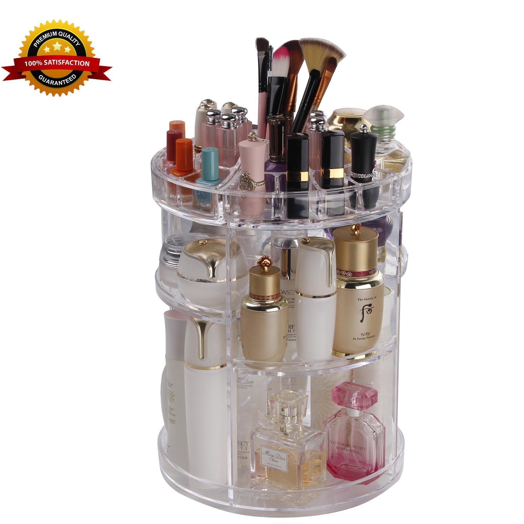 6573fd2a440d Buy VANNGROUP Transparent Cosmetic Makeup Organizer, 24 Grid Acrylic ...