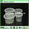 China custom logo printed 10OZ clear round plastic food container with lid