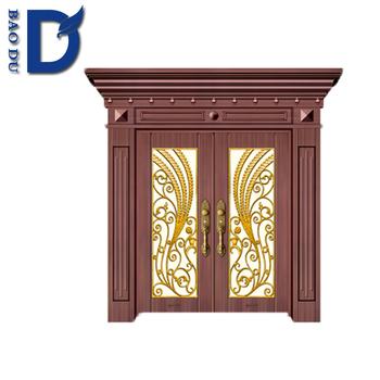 Steel French Doors Non Standard Size Exterior Door Made In China