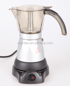 Italian High pressure steam espresso Coffee machine 6 cups Plastic housing material Electric moka coffee maker