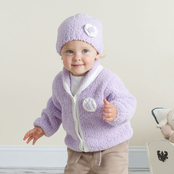 DB35 davebella autumn winter infant clothes toddler coat baby outwear chenille coat