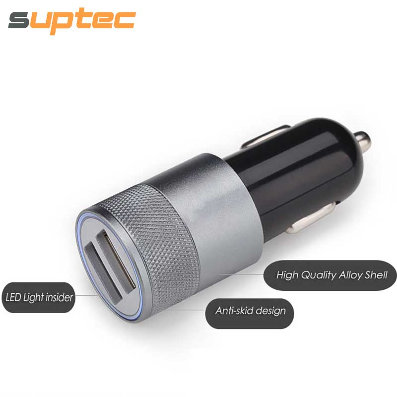 Car Phone Charger 2 Port Mini Dual Usb Car Charger Adapter