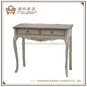 Shabby Chic Wood Provincial Antique Console Table Rustic Console Table