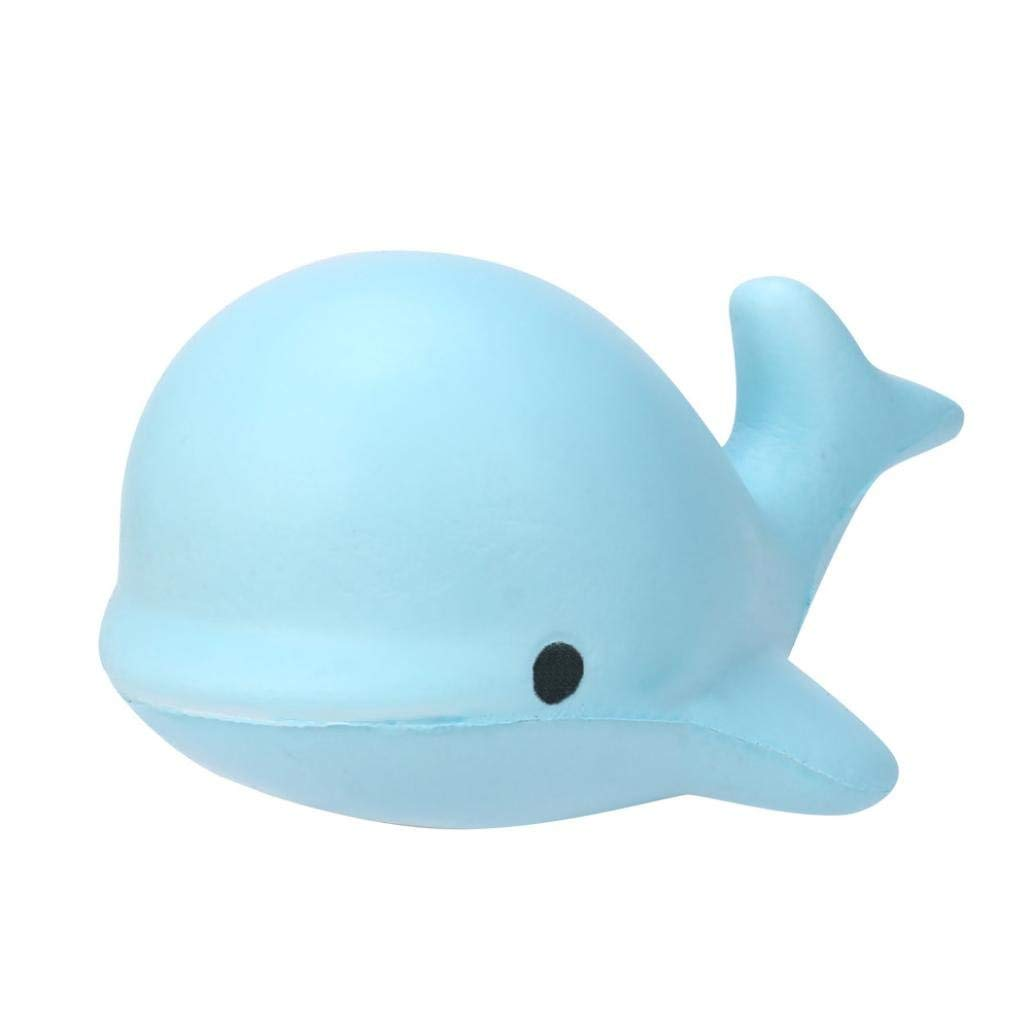 Hot Sale! Squishy Toy,Canserin 10CM Soft Whale Cartoon Squishy Toy Slow Rising Squeeze Toy For Kids Phone Straps Ballchains