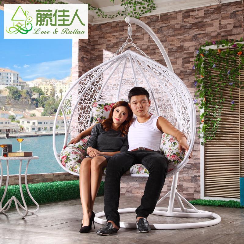 balcon double deux si ge en osier rotin suspendus chaise d 39 oeufs balan oire id de produit. Black Bedroom Furniture Sets. Home Design Ideas