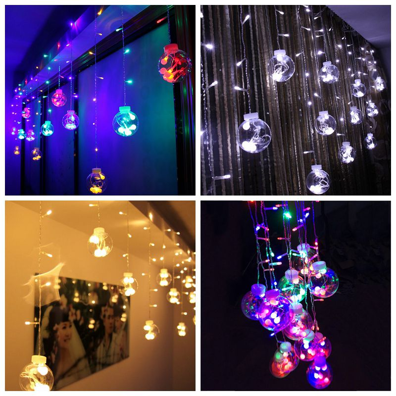 Led Fenster Weihnachtsbeleuchtung.Led Wedding Room Decoration Window Curtain Background Light Fairy
