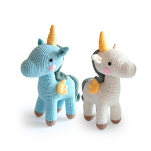 Customized Crochet 편 유니콘 Toy Amigurumi 수 제 Crochet <span class=keywords><strong>장난감</strong></span> Creative Design 박제 손-<span class=keywords><strong>짠</strong></span> Kids 유니콘 Toy