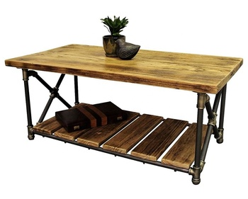 Retro Pipe Furniture And Wood Coffee Table Tea Center Product On