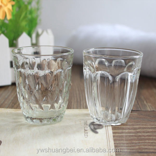 beautiful crystal shot glasses with flower carved