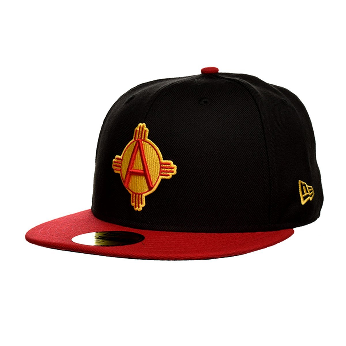 6f90504907f Get Quotations · New Era Albuquerque Dukes 59Fifty Zia Fitted Hat (Black)