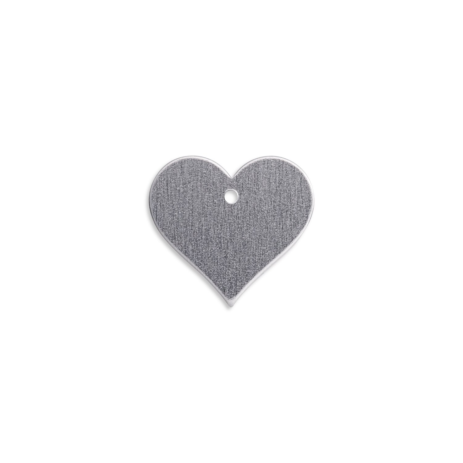 "RMP Stamping Blanks, 1.151"" x 1.25"" Heart with Hole, Aluminum .063"" (14 Ga.)- 50 Pack"