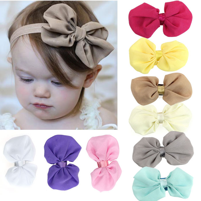 9PCS/lot Babys Girls Bow Flower Headband Baby Hair Bowknot Headbands Infant Hair Accessories Bow Headband Toddler hair bands