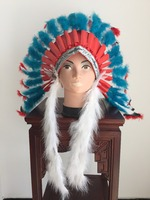 Feather assembles flowers Feather Headdress for festival