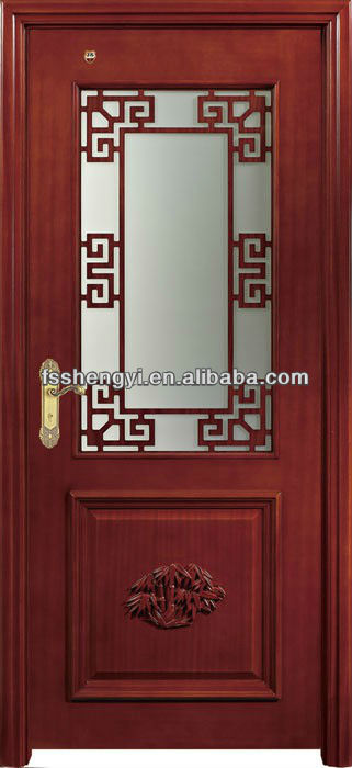 Charmant Fancy Half Glass Wood Door   Buy Wood Glass Door Design,Wood Framed Glass  Doors,Half Glass Interior Wood Doors Product On Alibaba.com
