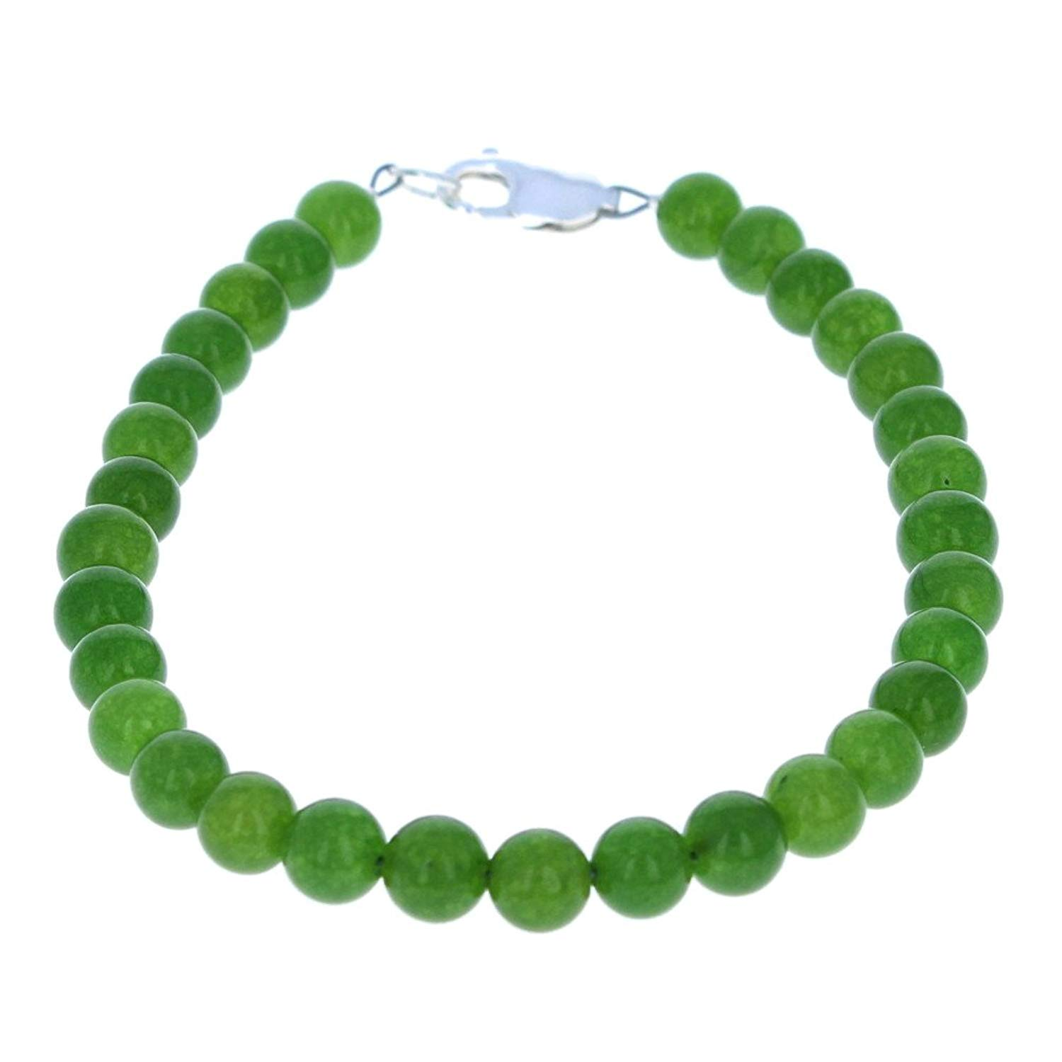 Timeless-Treasures Womens Dark Green Serpentine Ladies Beaded Gemstone Anklet
