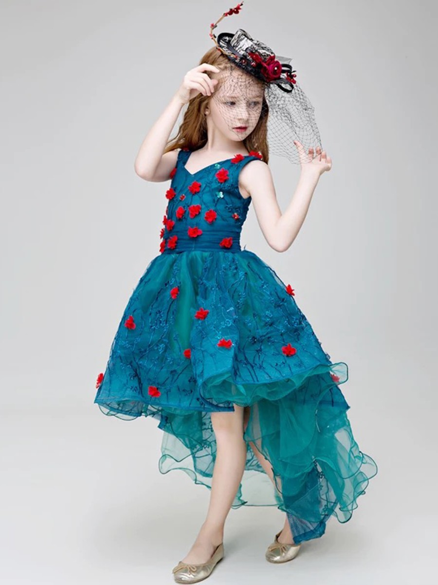 Special princes Ballroom dress Lyrical costume Western dance dress for girls