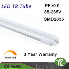 Aluminium and PC 22w save energy high quality russia t8 led tube for house with CE ROHS