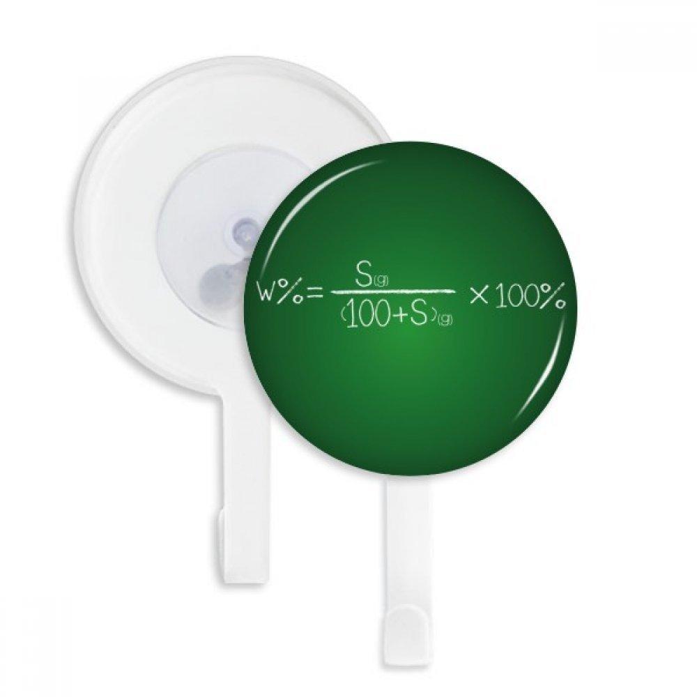 Chemistry Kowledge Solubility Formula Sucker Suction Cup Hooks Plastic Bathroom Kitchen 5pcs Gift
