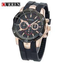 80d6c5365cf0 CURREN 8163 hombres relojes de cuarzo impermeable negro Placa de  span  class keywords