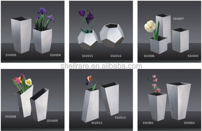 Metal craft for Table Top vase in stainless steel material for home decoration