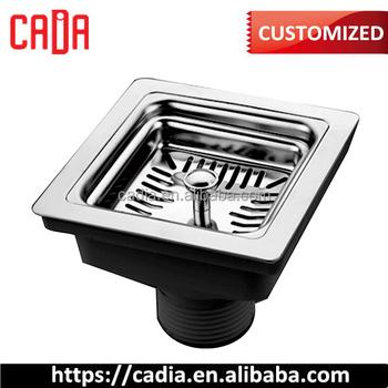 Iran Design 114 Square Strainer Stainless Steel Kitchen Sink Drainer With  Pvc Nut. Sink Strainer-ca-xsq003 - Buy Sink Drainer With Pvc Nut. Sink ...