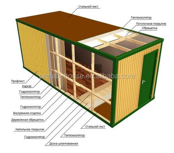 Low cost porta cabins container solutions specialized for Maison low cost container
