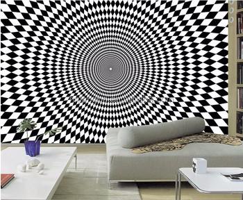 3d Stereo Hohe Technologie Geometrische Muster Tapete Wandbild Wohnzimmer  Ktv Bar Cafe Tapete - Buy Geometrische Hintergrundbild,Hohe Technologie ...