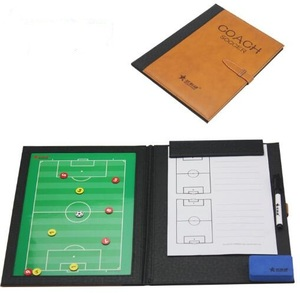 High quality Magnetic football Tactical Board training equipment folded size 24*32cm soccer coaching board with Accessories