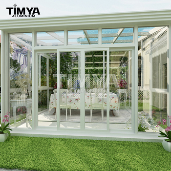 Prefab Polycarbonate Or Glass Sun House Patio Enclosure Sunroom