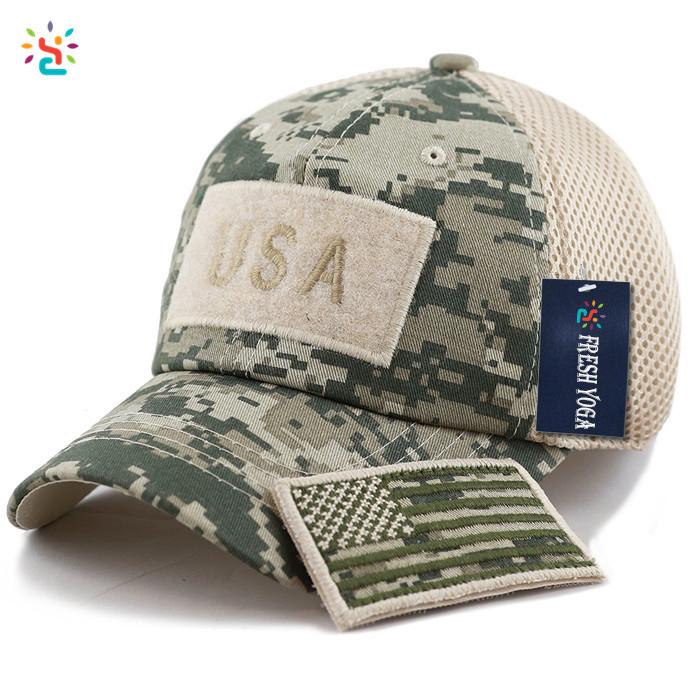 Stylish Hats Camo Mesh Back Hats Unstructured 6 Panel Baseball Cap American  Flag Hat Tactical Operator Cotton Cap - Buy Hats Camo,Mesh Back