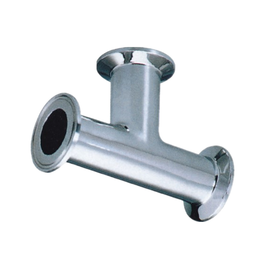 304 316 Stainless Steel fast clamp pipe tee joint