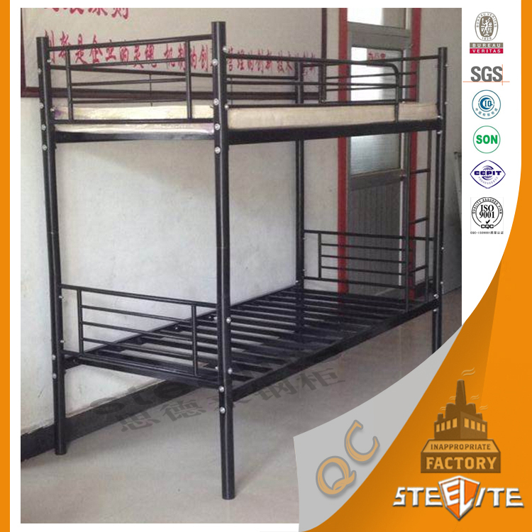 Modern Home Furniture Metal Bed Frames Steel Bunk Bed / 2 Floor Steel Bed /  Double