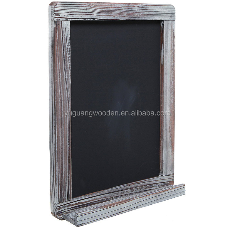 Wall Mounted Decorative Rustic Style Wood Framed Chalkboard